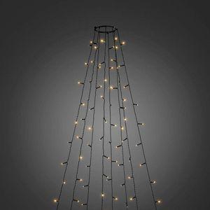 LED Baummantel mit Ring Ø 17cm 8 Stränge 70 Dioden Multifunktion App-fähig bernsteinfarben IP44