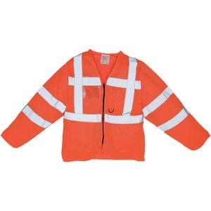 Yoko Herren Executive Schutzjacke, langärmlig, Warnfarben BC3625 (XL) (Warnorange)