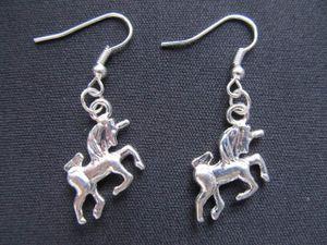 Einhorn Ohrringe Einhörner Miniblings Pferd Fantasy Unicorn Schimmel silber