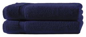 2 Duschtücher navy marine 70x140cm Set Baumwolle Duschtuch Frottiertuch groß