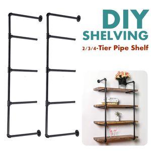 MECO Wandregal Schweberegal Standregal Leiterregal mit 4 Ebenen aus Metall für Schlafzimmer, Wohnzimmer, Küche und Flur