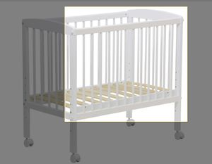 Seitenschutz für Beistellbett Polini Kids 100 weiß, 3048.1-04