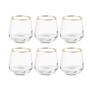 BUTLERS TOUCH OF GOLD 6x Glas mit Goldrand 345ml