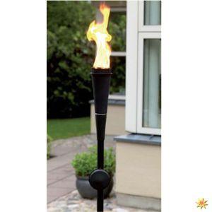 Gartenfackel - Stabfackel für Lampenöl - schwarz