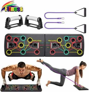 9 in 1 Faltbare Multifunktions Fitness Push Up Rack Board für Muskeltraining Krafttraining Rutschfest