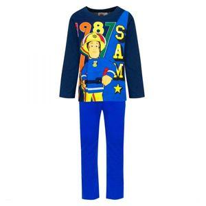 Feuerwehrmann Sam Jungen Schlafanzug, blau, Gr. 98-116 Größe - 5 Jahre