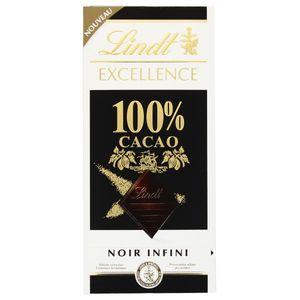 Lindt Excellence 100 Prozent Kakao Noir Infini Schokoladentafel 50g