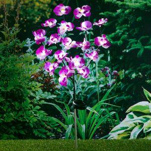 Orchidee LED Gartenstecker - verschiedene Motive
