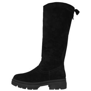 Tamaris Damen Stiefel Leder Langschaft 1-25622-27, Größe:38 EU, Farbe:Schwarz