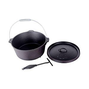 El Fuego Gusseisen-Grilltopf Dutch Oven Ø 29,7 x 10 cm, 5,6 Liter, mit 3 Standfüßen