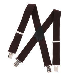 Hosenträger mit Heavy-Duty-Clips und verstellbaren Trägern mit X-Rücken für den Kaffee von Erwachsenen 105 cm x 5 cm