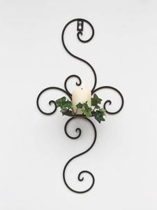DanDiBo Wandkerzenhalter Metall Antik Schwarz 12112 Kerzenhalter Wand 48cm Schmiedeeisen
