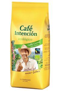 Café Intención ecológico Caffè Crema | Fairtrade | ganze Bohne | 1000g
