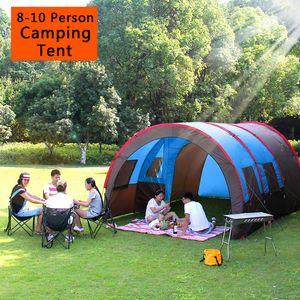 CAMTOA 8-10 Personen Tunnelzelt Campingzelt Familienzelt Gruppenzelt Wasserdichte Camping Zelte Outdoor