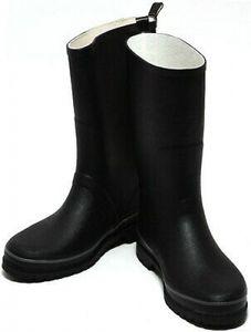 Damen Herren Stiefel Regenstiefel Gr. 41-46 Outdoorstiefel Gummistiefel schwarz, Schuhgröße:EUR 41