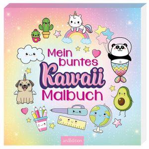 ars Edition Mein buntes Kawaii Malbuch