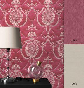 Tapete Barocktapete Rot   Barock Glamour Royal Ornament Prunk  Dominik Muster