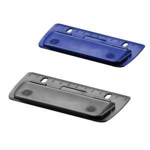 2x Herlitz Taschenlocher / Mini Locher / abheftbar / Farbe: je 1x blau + schwarz
