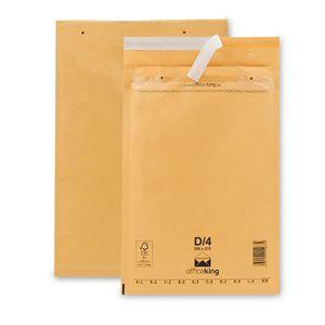 100 Luftpolstertaschen/ Luftpolsterumschläge D/4 (200 x 275 mm) braun