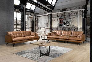 Sofa 3-Sitzer oder 4-Sitzer Microfaser braun KAWOLA braun 3 und 4 Sitzer Set HILLY