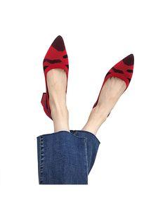 Damen Sandalen Zum Hineinschlüpfen Bequeme Loafer High Heels Mit Dickem Absatz,Farbe: Rot (spitz),Größe:35