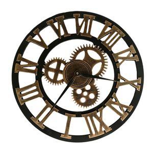 Industrial Gear Wanduhr Dekorative Wanduhr Industrial Style Wanduhr (40cm Goldener Versand ohne Batterie)