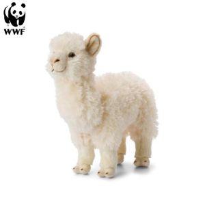 Plüschtier Alpaka (31cm, weiß) lebensecht Kuscheltier Stofftier Alpaca Kamel Südamerika