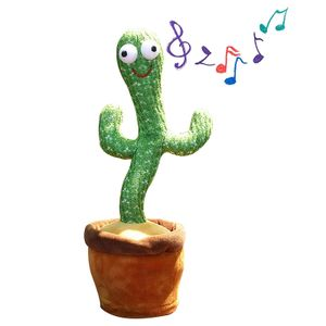 1x Kaktus-Plüschtier, elektronischer Tanzkaktus, Dancing Cactus Toy, lustiges Spielzeug für die frühkindliche Bildung