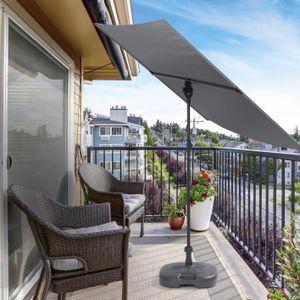 Sonnenschirm Gartenschirm Balkonschirm Sichtschutz Strand Schirm Wasserabweisend