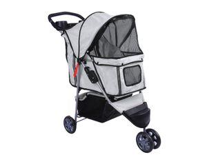 Bc-elec - 5663-0015Agrey Tier-Buggy Hundebuggy mit 3 Rädern, Farbe grau