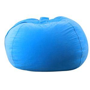Kinder Kuscheltier Plüsch Spielzeug Lagerung Sitzsack Soft Pouch Stripe Fabric Chair