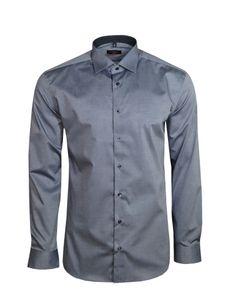 Eterna Herren Hemd Langarm Slim Fit Hemden 8888/32/F140 Grau M/39
