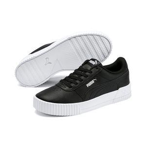 PUMA Carina Damen Low Sneaker Schwarz Schuhe, Größe:40