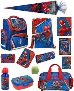 Spiderman Schulranzenset 17tlg. EXPORT Federmappe Sporttasche Schultüte 85cm