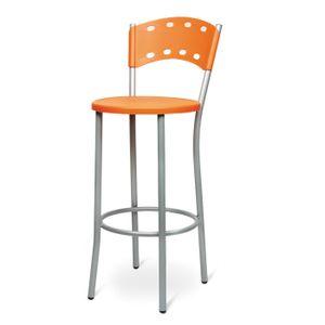 Hoher Orangenhocker für Restaurants 42x40x74 / 97h