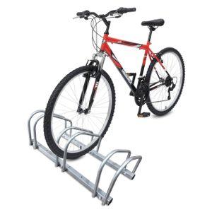 VOUNOT Fahrradständer, Boden und Wandmontage, 3 Fahrräder