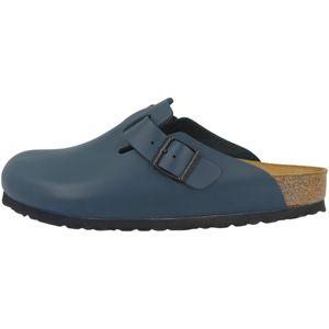 BIRKENSTOCK Boston  Clogs Pantoffel Hausschuhe Blau Schuhe, Größe:43