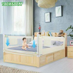 Bettgitter Kinder Baby Fall Bettschutz Nachtzaun Rausfallschutz 180*68cm Stabile