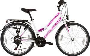 24 zoll Kinderfahrrad Mädchenfahrrad Damenfahrrad 21 Gang Shimano RH 42 weiss Pink Neu-049
