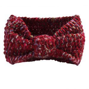 Stirnband Damen Ohrwärmer Kopfband Winter meliert Rot S2338