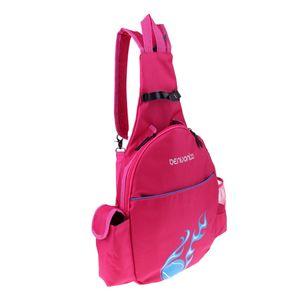 Wasserfeste Tasche Schläger Rucksack Schultasche Freizeittasche Tennistasche Schlägertasche für Badminton Squash Tennis Farbe Rose Rot