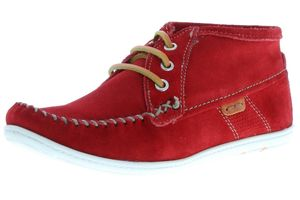 Klondike Damen Mokassins rot, Größe:38, Farbe:Rot
