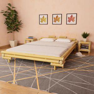 【Neu】Klassische Betten Bettgestell Bambus 160×200 cm BEST SELLER- Gesamtgröße:221 x 181 x 58 cm BEST SELLER-Möbel-Betten,Zubehör-Betten,Bettgestelle im Landhaus-Stil