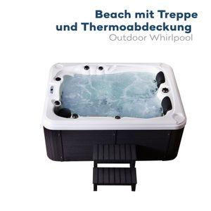 Outdoor Whirlpool BEACH - Mit Treppe und Thermoabdeckung