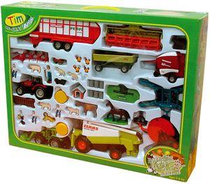 TIM 36002 Jumbo-Bauernhofset, Traktoren, Mähdrescher 1:32 Metall
