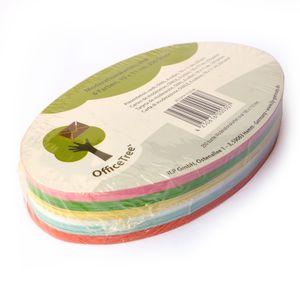OfficeTree 250 bunte Moderationskarten oval 190 x 110mm 6 Farben