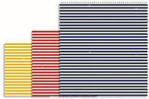 Bee's Wax geschirrtücher Streifen 30 cm Baumwolle gelb/rot/blau 3-teilig