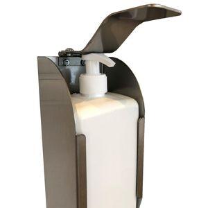 Densinfektionsspender Hygiene Desinfektion Handdesifektionsmittel  Spender komplett aus Edelstahl Inkl. keere Nachfüllflasche für Desinfektionsmittel Hände
