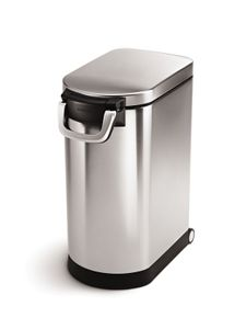 simplehuman Tierfutterbehälter groß mit Messbecher Futtertonne 30 Liter CW1886
