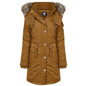 ODYSSEE Damen Wintermantel , Farbe:braun, Größe:XL